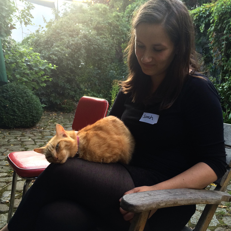 Sarah Maria mit Katze