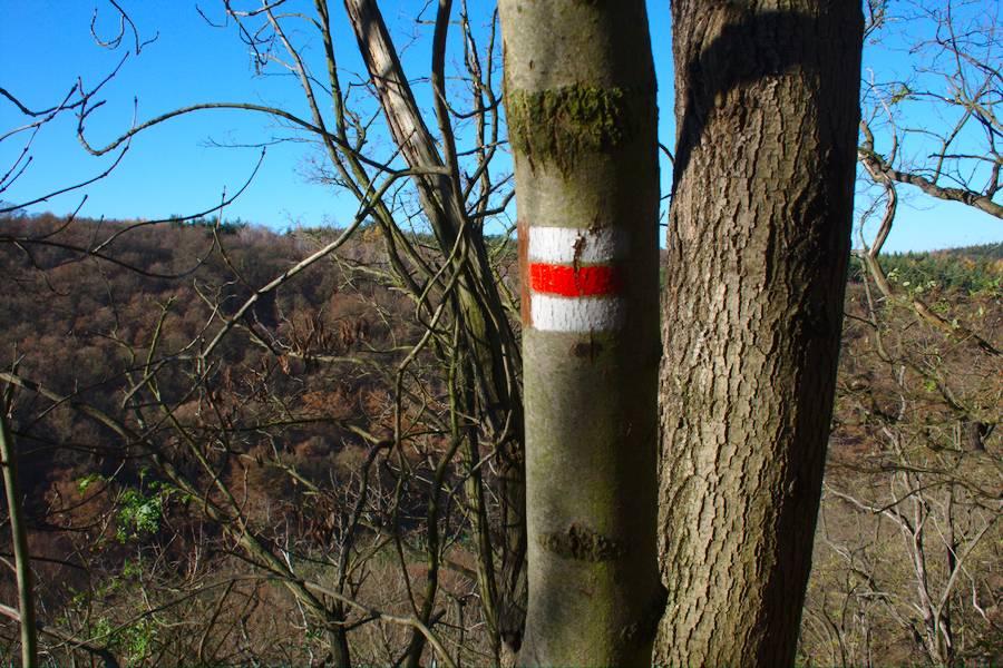 Markierungen Wanderweg